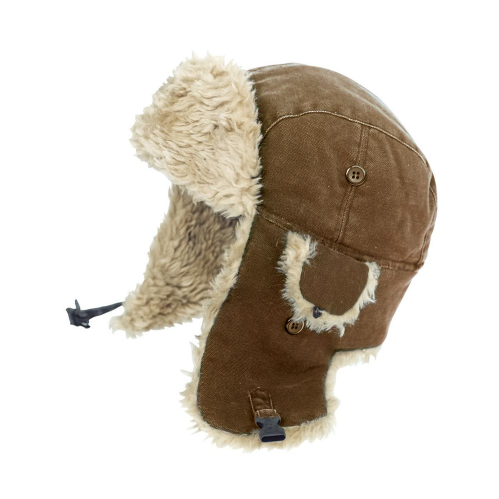 Duck Aviator Hat Brown Large