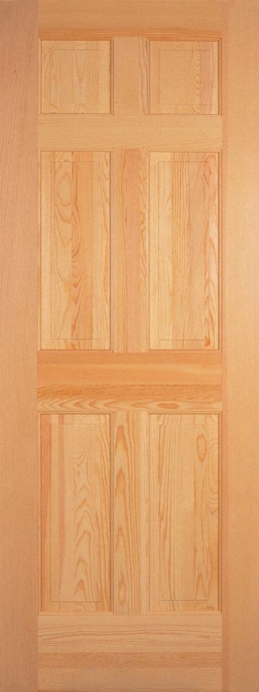 6 Panel Clear Pine Door 28 In. x 80 In.