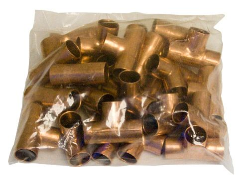Fitting Copper Tee 1/2 Inch Copper To Copper To Copper (Bag Of 50)