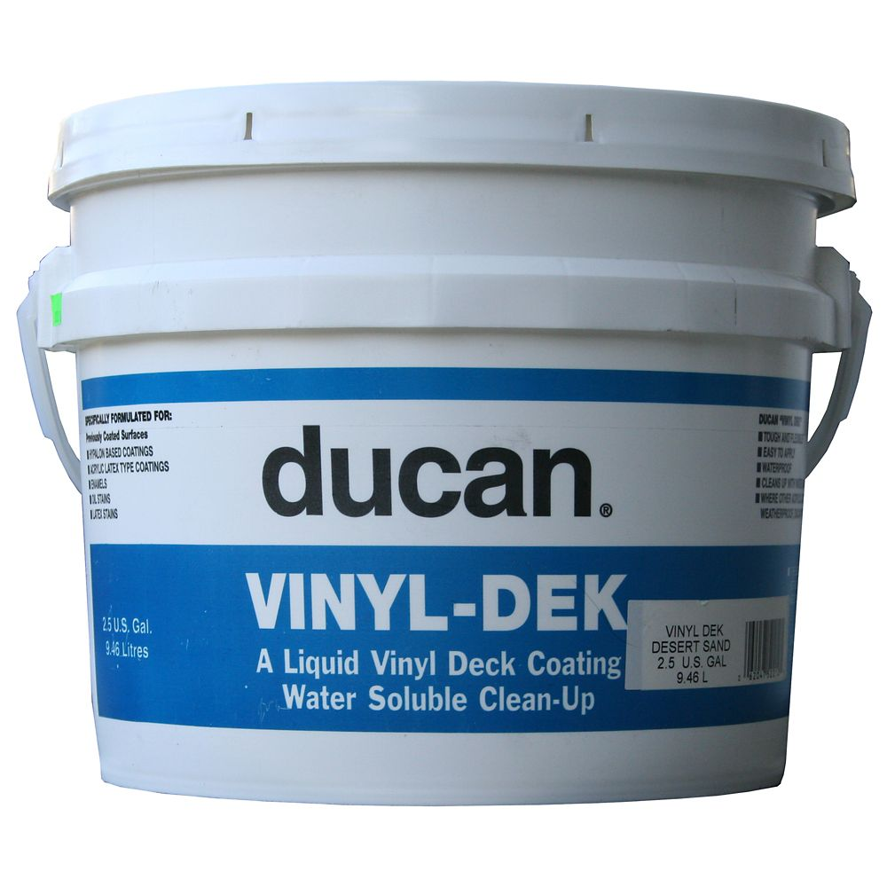Vinyl -Dek Acrylic Coating to recoat a previously painted surface.  Not meant for bare plywood or...
