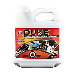 The Duke Cleaner and degreaser,is  an all purpose cleaner for decks, driveways and walkways.  Can also be used indoors for household cleaning.