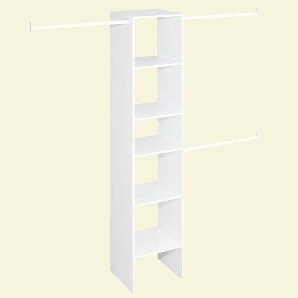 Selectives Narrow 4 ft. to 9 ft. Custom Closet Organizer in White