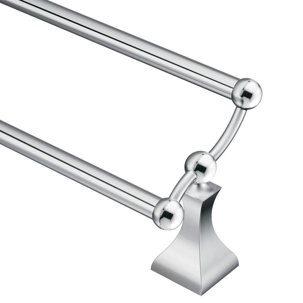 Retreat Chrome 24 Inch Double Towel Bar