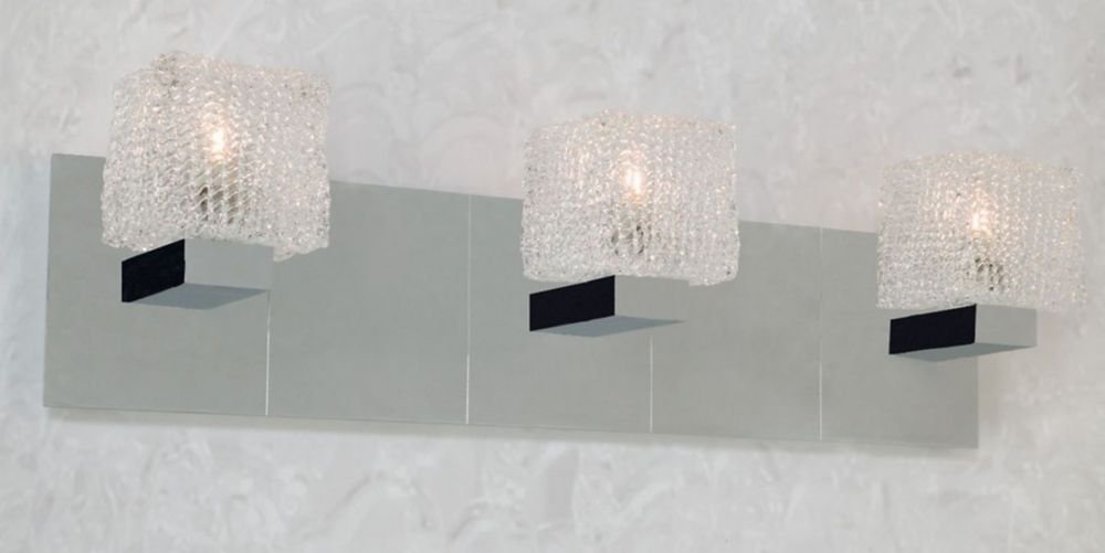 Hampton Bay 2 Light Chrome Bath Light 05659: Hampton Bay Rain Collection 3-Light Vanity Light Fixture