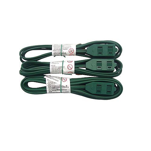 HDX indoor light-duty extension cords (3-Pack)