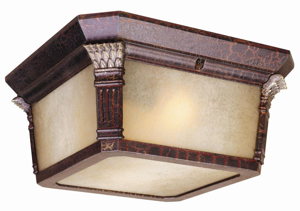 Hampton Bay 2-Light Cast Aluminum Flushmount, Augustain Bronze Finish with Golden Highlights