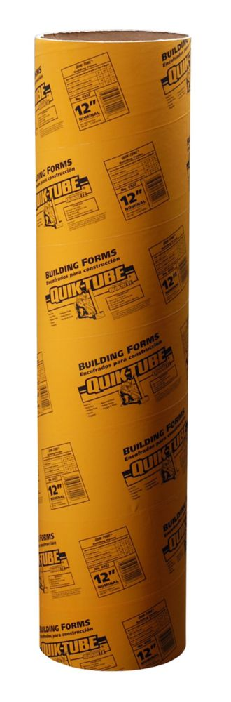 Quikrete Quiktube Building Forms 8 feet x 6 inch | The Home Depot ...