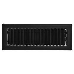 HDX 3 po x 10 po Registre de plancher - Noir mat