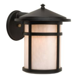 Snoc Residence, Downlight Wall Mount, Pearled Acrylic Diffuser, Black