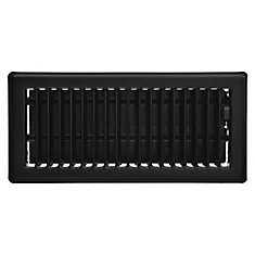 4 inch x 10 inch Floor Register - Matt Black