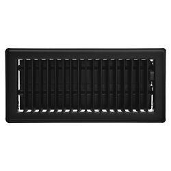 HDX 4 inch x 10 inch Floor Register - Matt Black