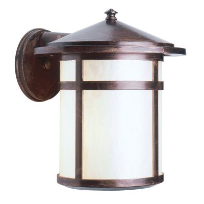 Residence, Downlight Wall Mount, Pearled Acrylic Diffuser, Antique Copper