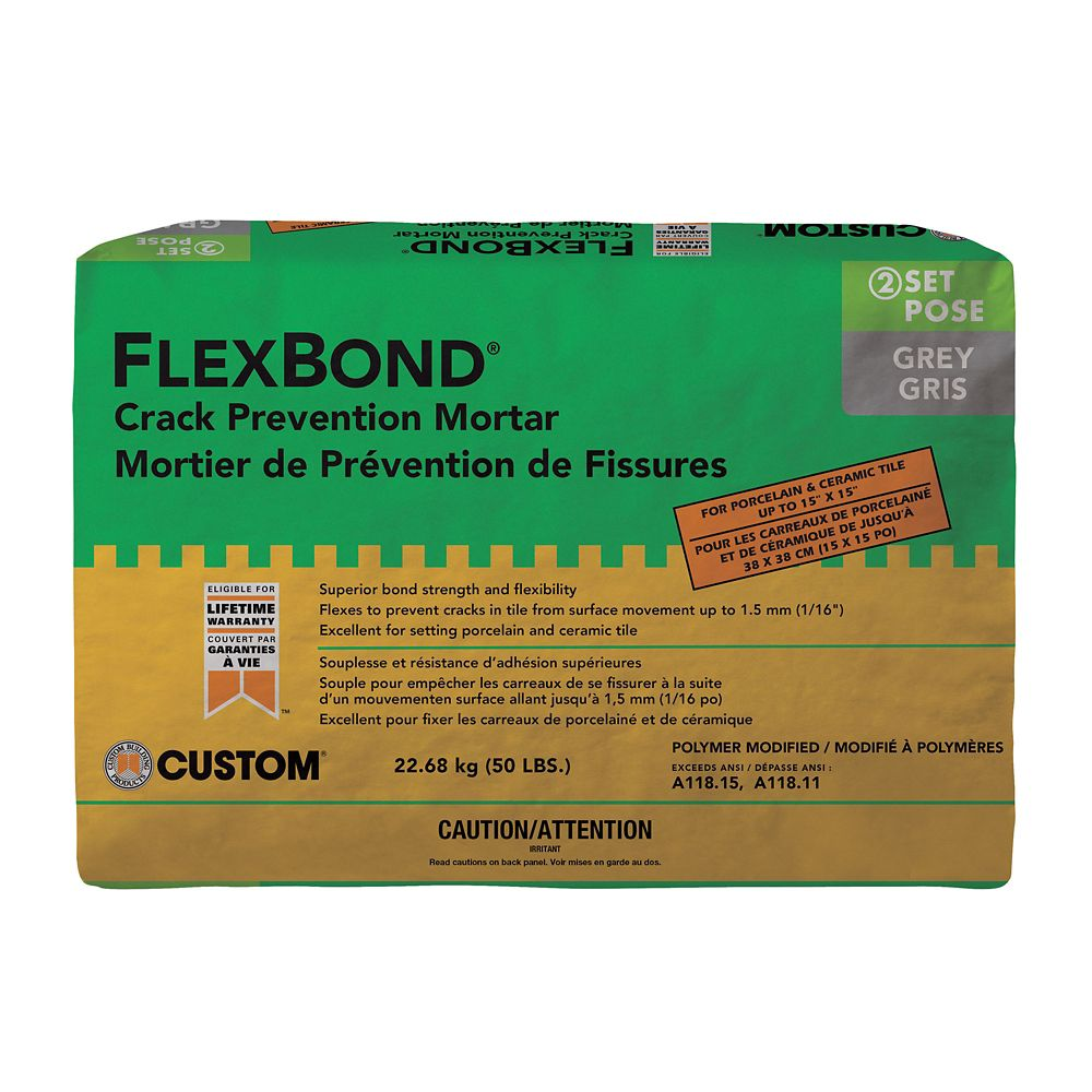 Custom Building Products Flexbond Fortified Thin Set Mortar 22.7Kg Gray