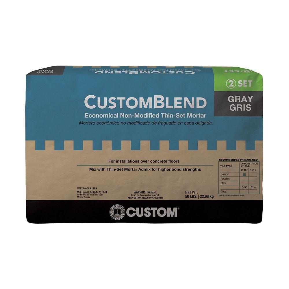 Mortier colle standard gris CustomBlend � 22,7 kg
