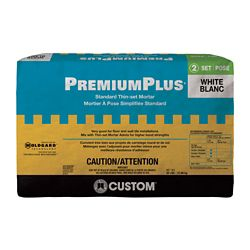 Custom Building Products PremiumPlus Standard Thin-Set Mortar  White 22.68 Kg