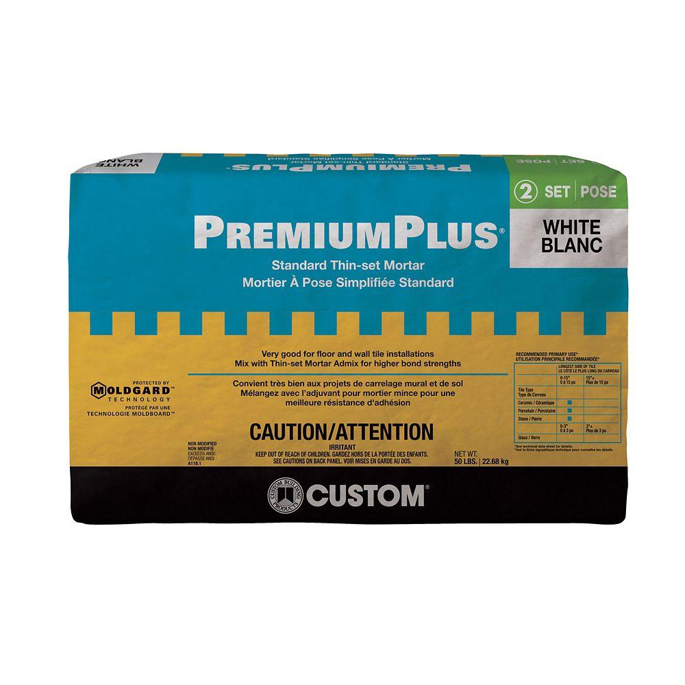 Tile setting grout the home depot canada premiumplus standard thin set mortar white 2268 kg nvjuhfo Images
