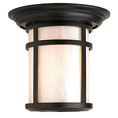 Residence Series, Black With Pearl Acrylic Diffuser, Ceiling Mount
