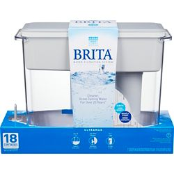 Brita UltraMax Water Filter Dispenser, White, 18 Cup
