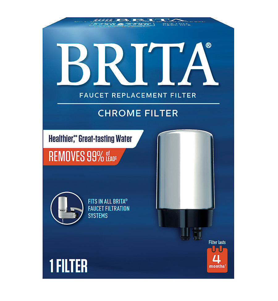 Brita Faucet Mount Replacement Filter Chrome The Home