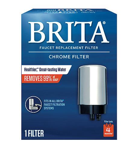 Brita Brita Faucet Mount Replacement Filter / Chrome | The Home ...