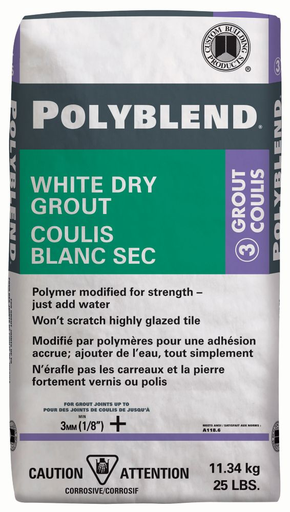 Polyblend White Dry Tile Grout - 25-lb CPBWDG25 Canada Discount