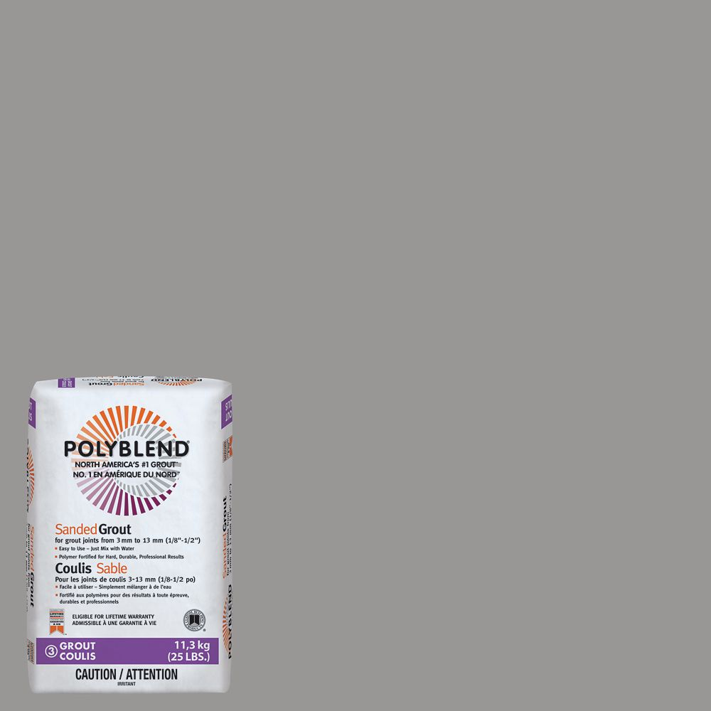#165 Delorean Gray - Polyblend Sanded Grout - 25lb CPBG16525 Canada Discount
