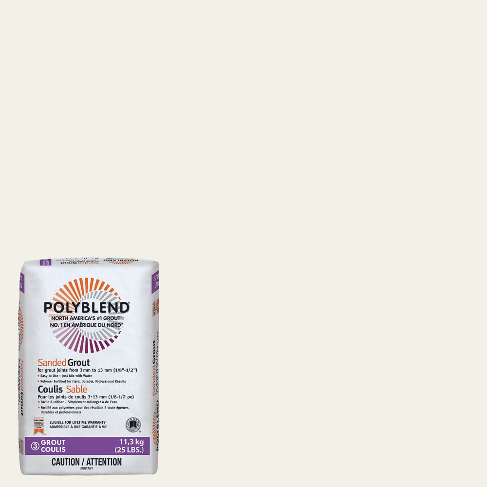 #145 Light Smoke - Polyblend Sanded Grout - 25lb CPBG14525 Canada Discount
