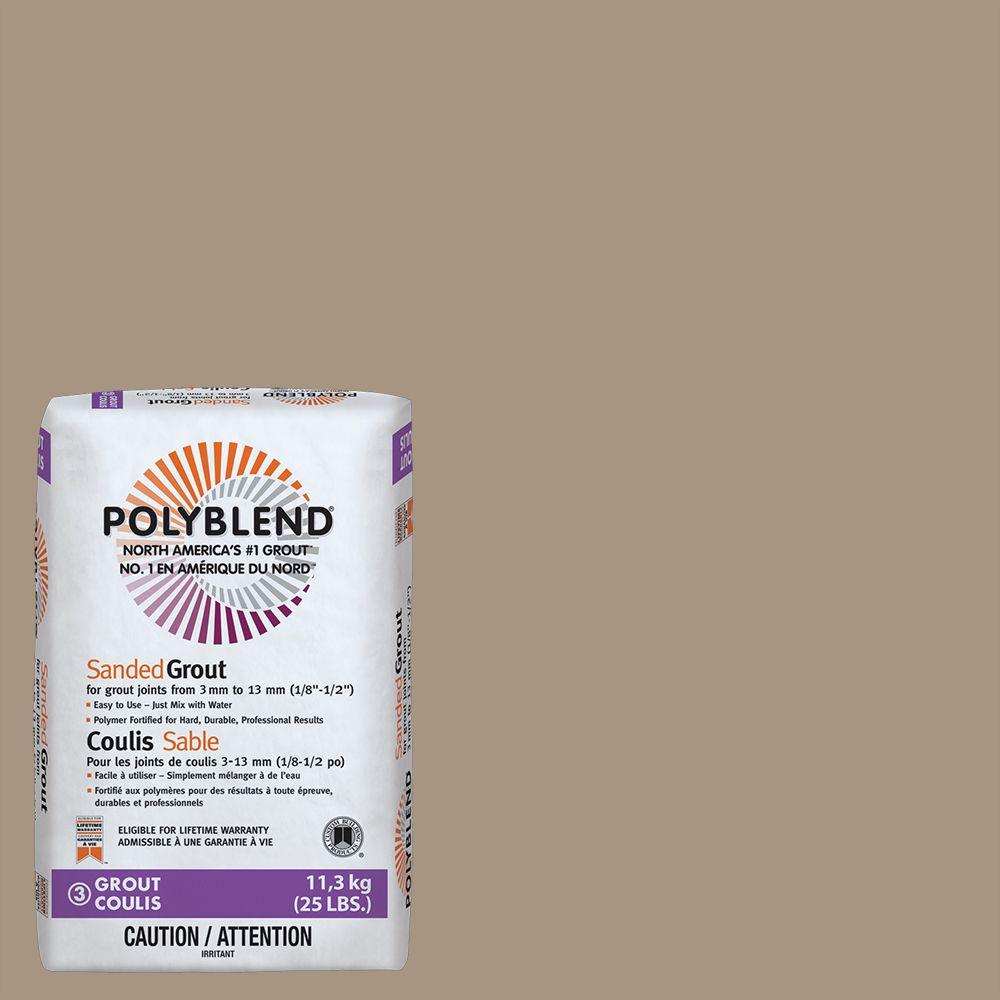 #145 Light Smoke - Polyblend Sanded Grout - 25lb