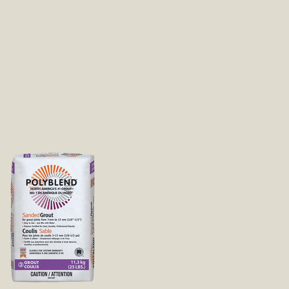 #11 Snow White - Polyblend Sanded Grout - 25lb