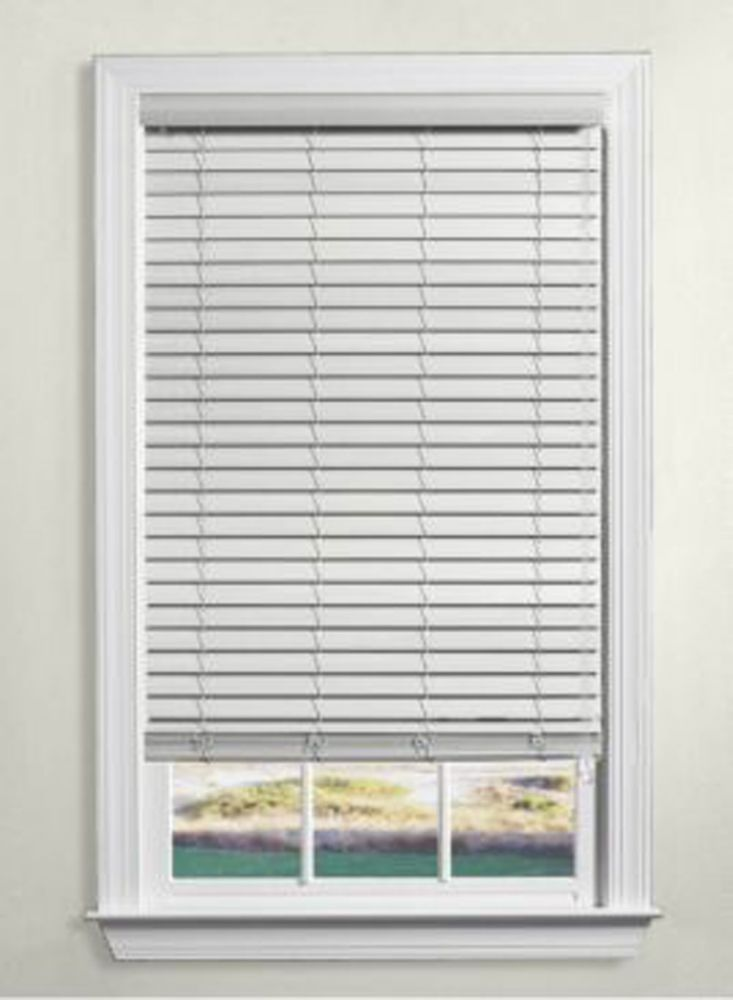 Faux Wood Blinds 2 1/2 Inch