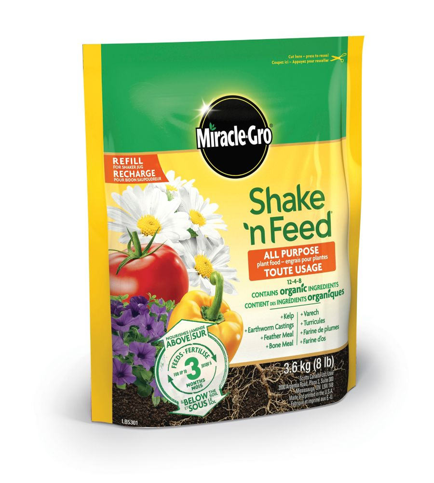 Sac recharge dengrais pour plantes tout usage Miracle-Gro Shaken Feed