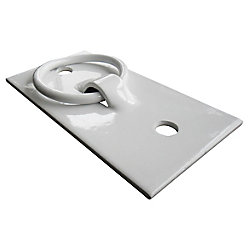 Howell Dock Cleat Mooring Ring in White