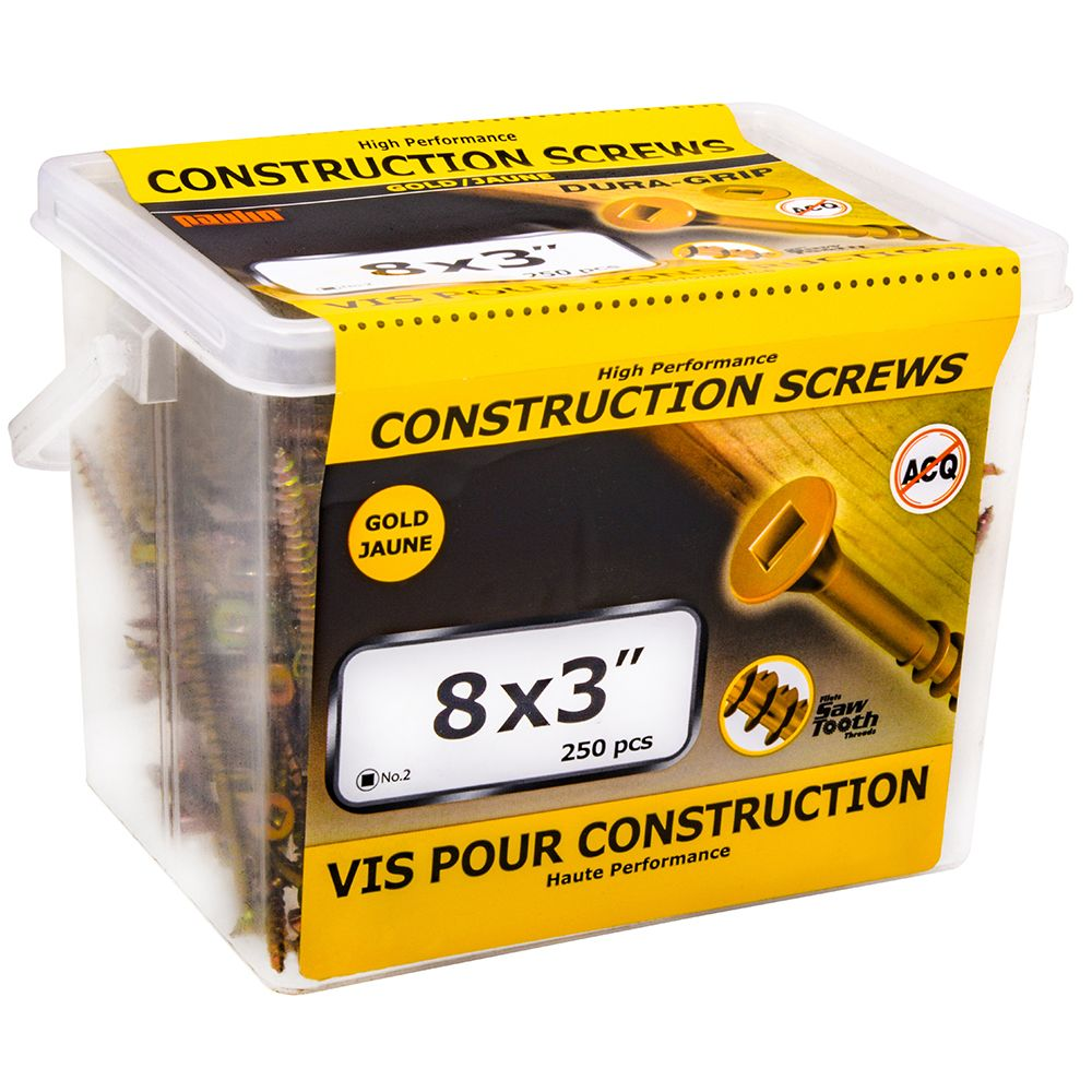 Vis de construction 8x3