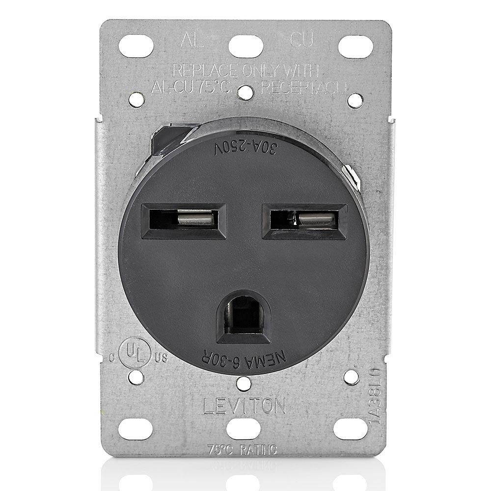 30 Amp Outlet >> 30 Amp Flush Mount Receptacle 250v 6 30r