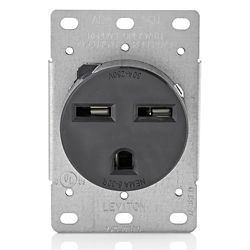 Leviton 30 Amp Flush Mount Receptacle, 250v/6-30r