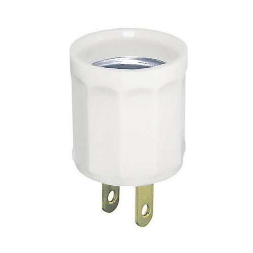 Plug-In Socket Medium Base, White