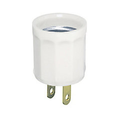 Plug-In Socket Medium Base, White