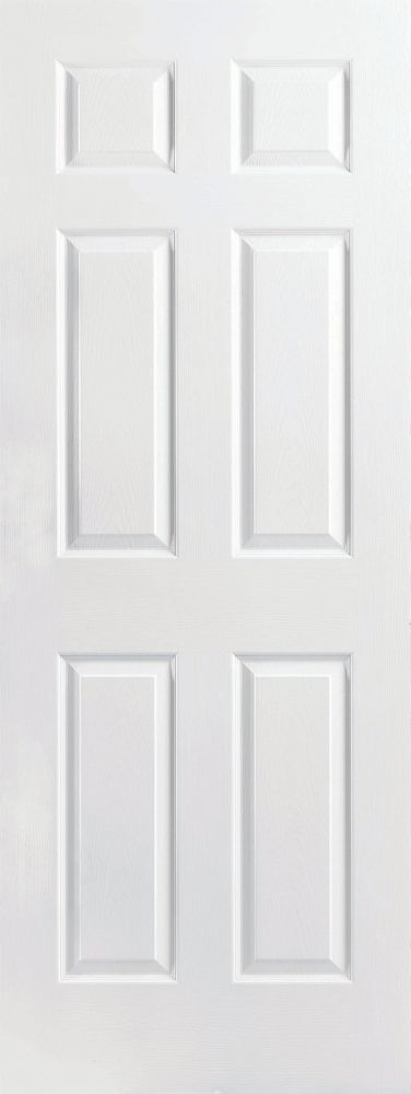 Masonite 36 Inch X 80 Inch Primed Textured 6 Panel Interior Door