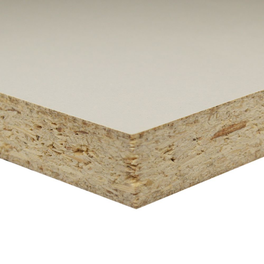 3/4 Inch  2 Feet x 4 Feet White Melamine Particleboard Handy Panel