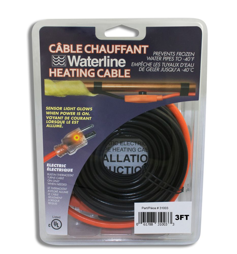 3 Ft. Electric Pipe Heating Cable