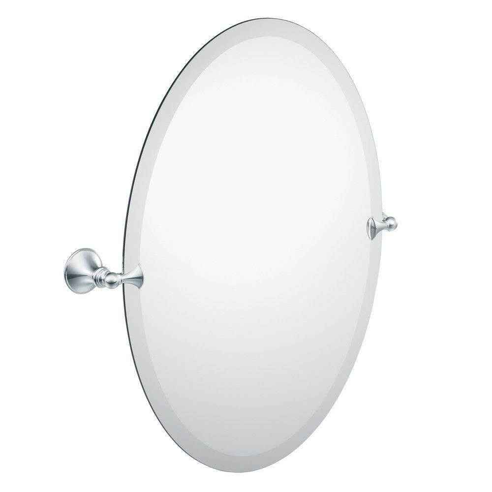 Glenshire Chrome Mirror with Pivoting Decorative Hardware