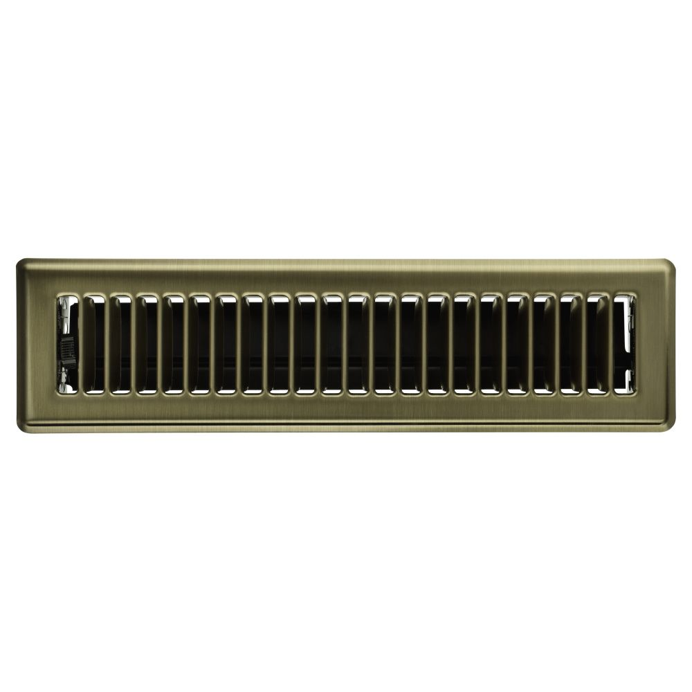2 1/4 x 12 Floor Register - Brass RG0166 Canada Discount
