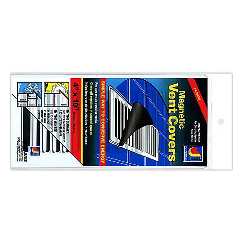 Couvercles aimantes pour sorties de ventilation, blanc, 4 po x 10 po