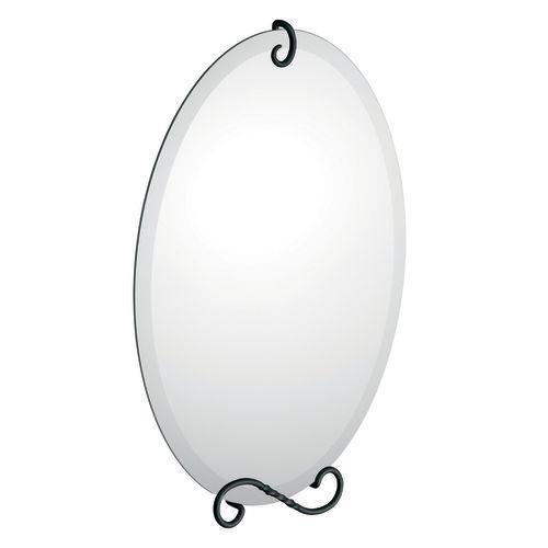 Sienna- Miroir avec quincaillerie décorative, Noir