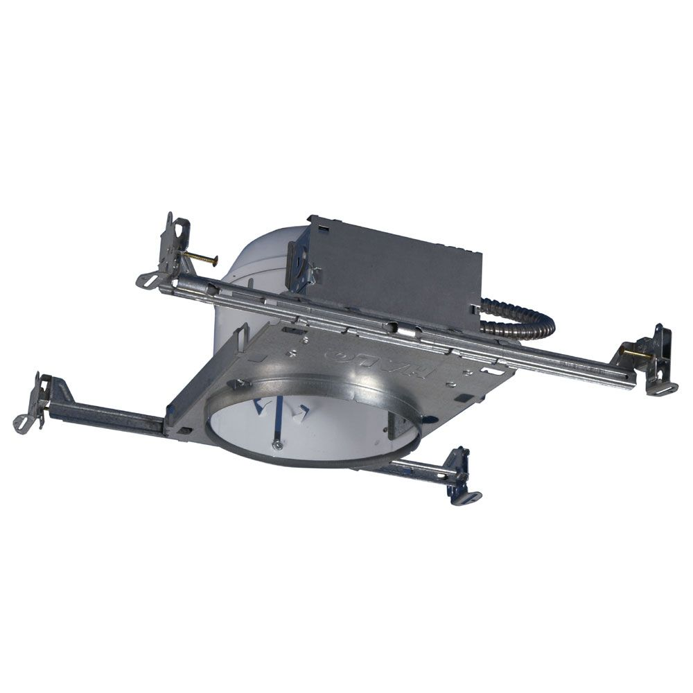 Halo H27 6-inch Steel Recessed Lighting Housing for New Construction Shallow Ceiling