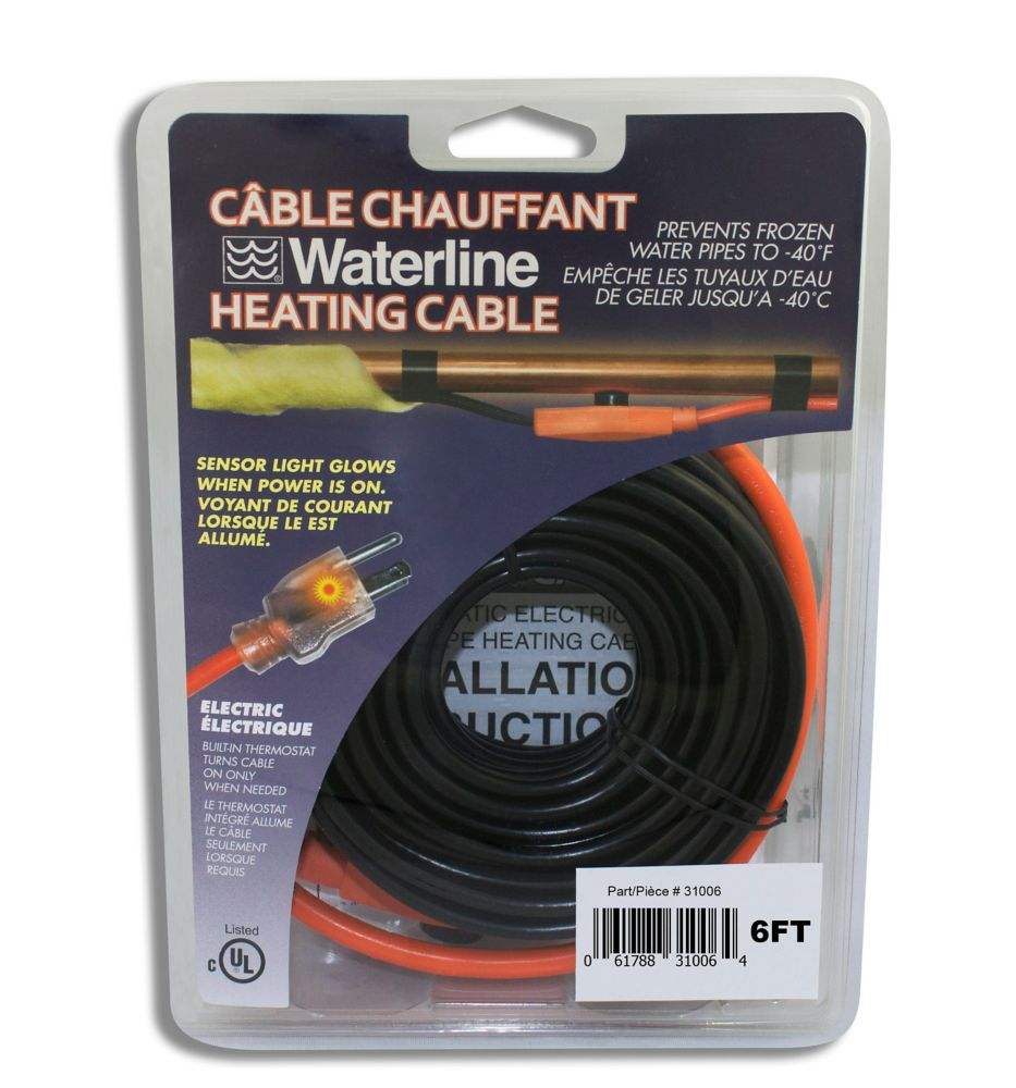 6 Ft. Electric Pipe Heating Cable
