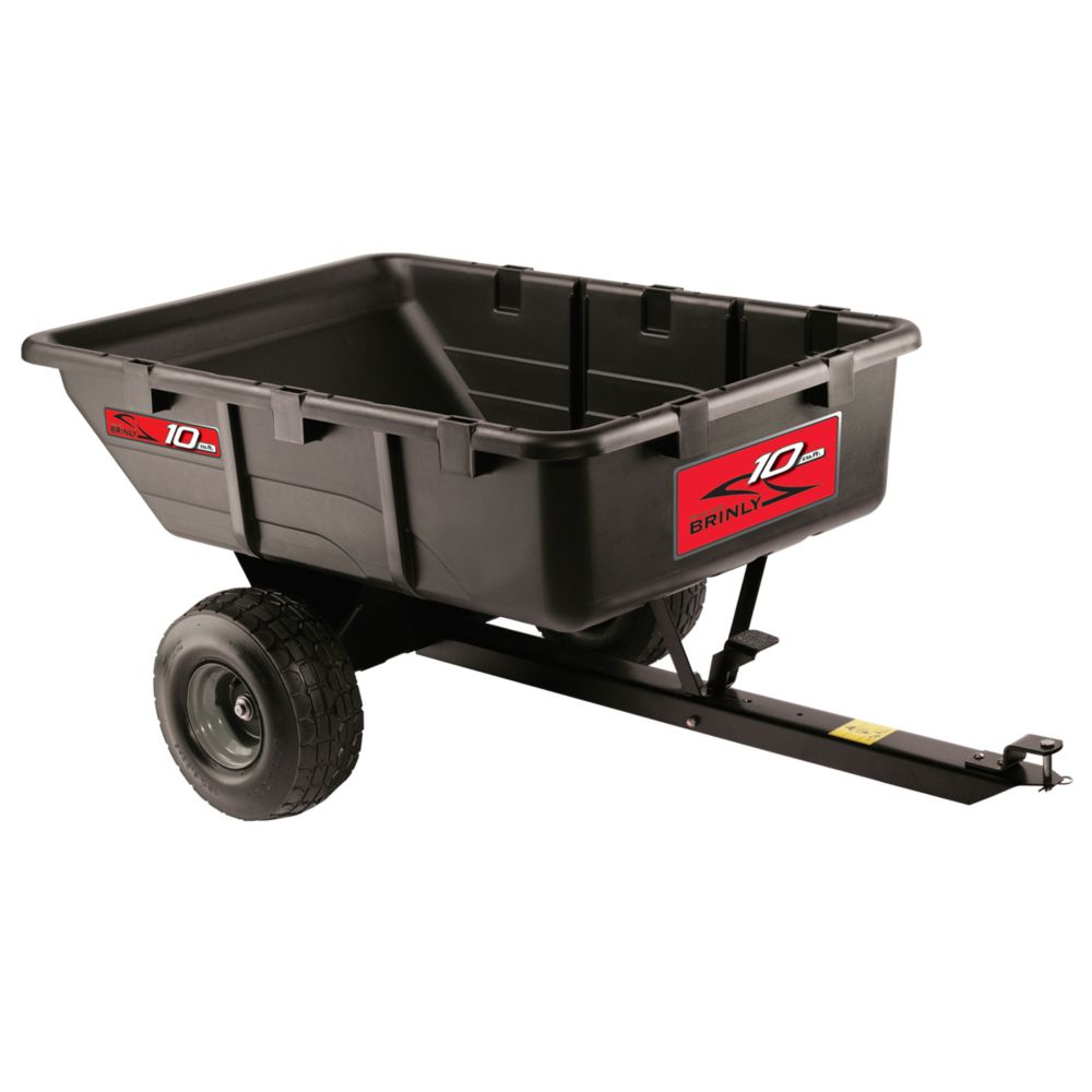 Brinly Push/Tow Poly Cart - 10 Cu. Feet