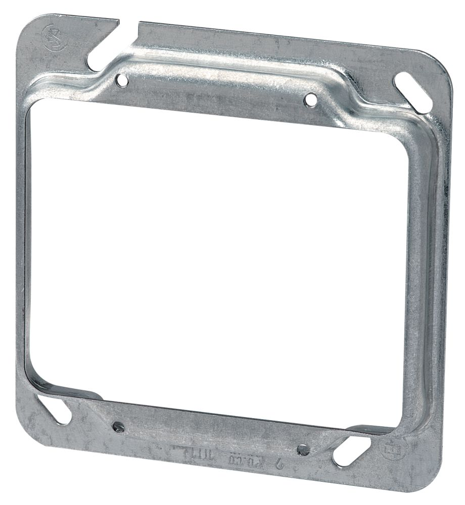 4 In. Square Two Device 1/2 In. Raised Cover