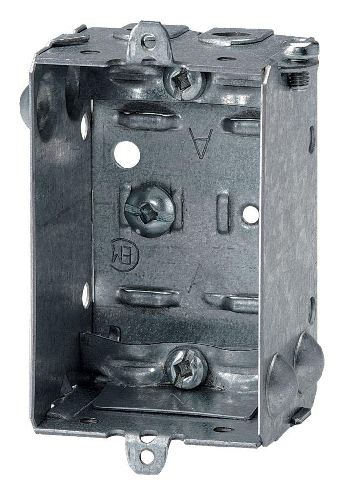 Boîte groupable pour appareil, 1-1/2 po prof. NMD90