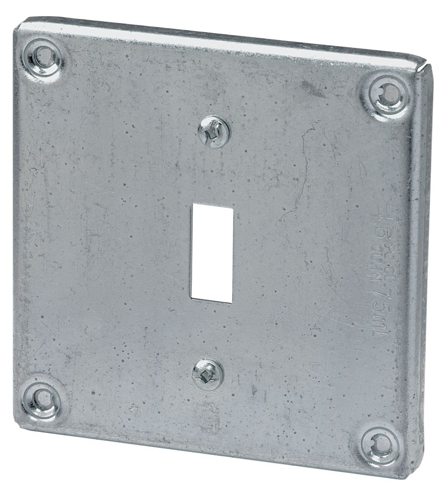 4 In. Square Cover Toggle Switch